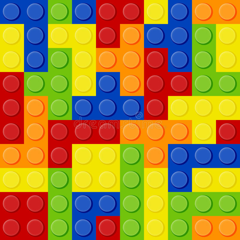 Lego Tetris stock illustration
