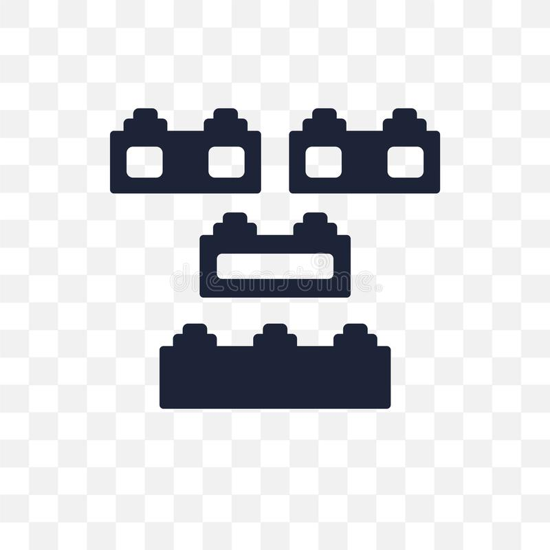 Lego transparant pictogram Het ontwerp van het Legosymbool van Vermaakcol. vector illustratie
