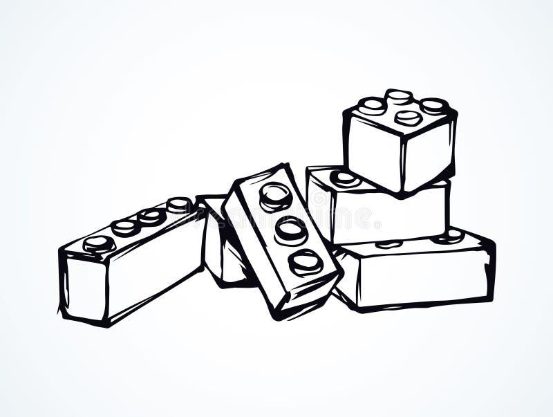 Lego. Vector drawing stock illustration