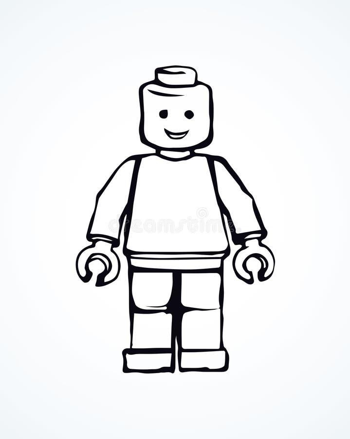 lego Vector tekening royalty-vrije illustratie