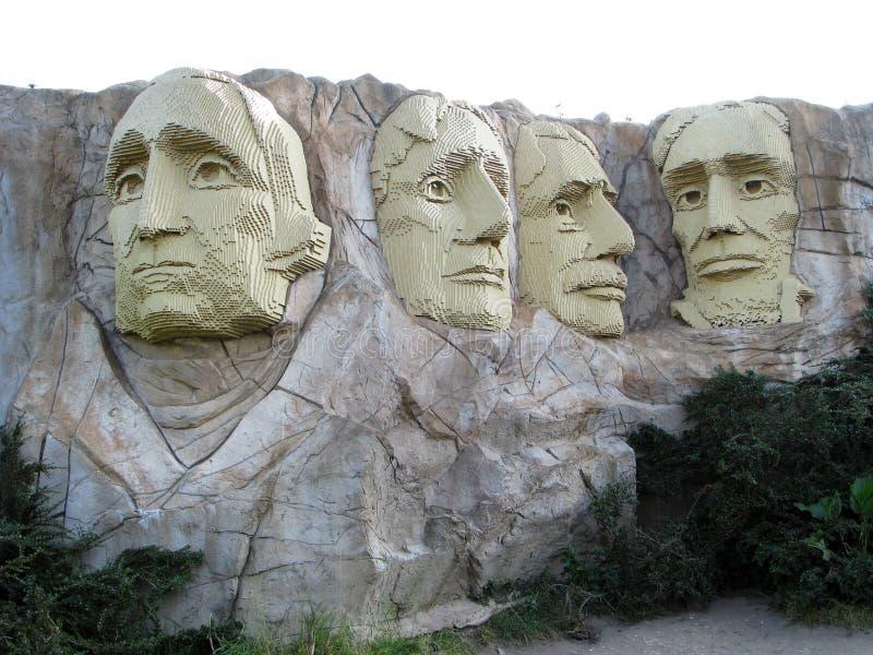 Lego zet Rushmore op stock afbeelding