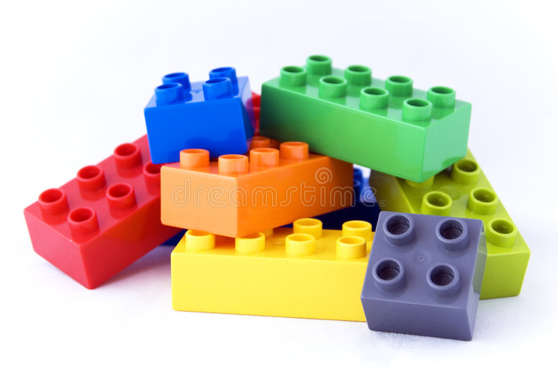 Legoblokken van de bouw royalty-vrije stock afbeeldingen