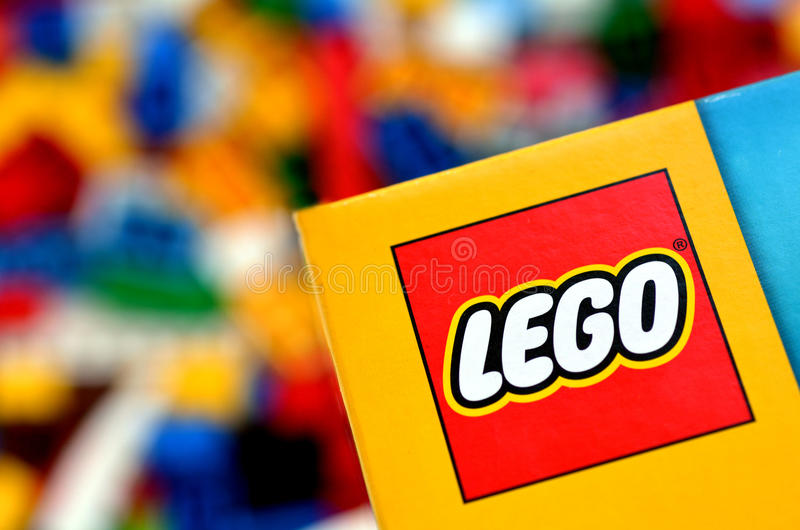 Legoembleem royalty-vrije stock foto's