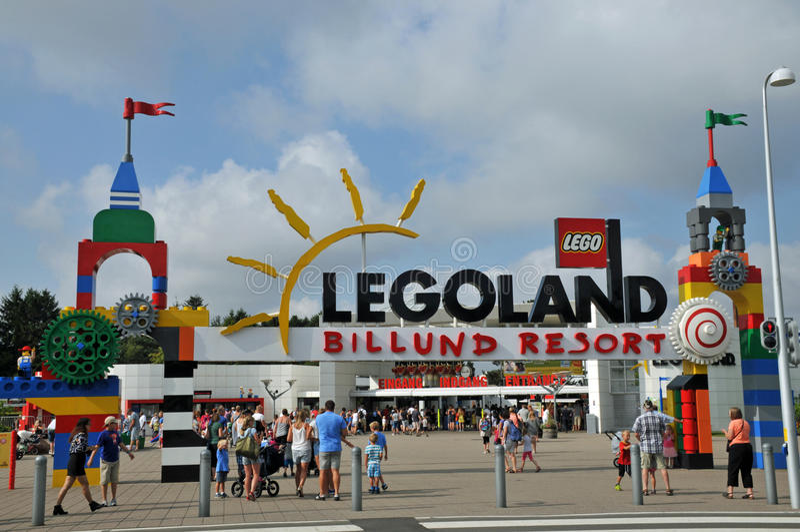 Legoland在Billund,乐高的家 免版税库存图片