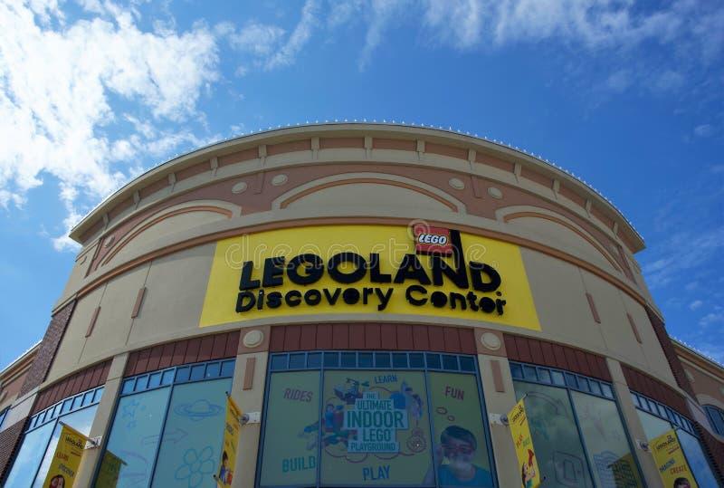Legoland在Woodfield购物中心,芝加哥, IL的发现中心 库存图片