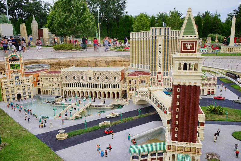 Legoland Florida Miniland USA stock photo