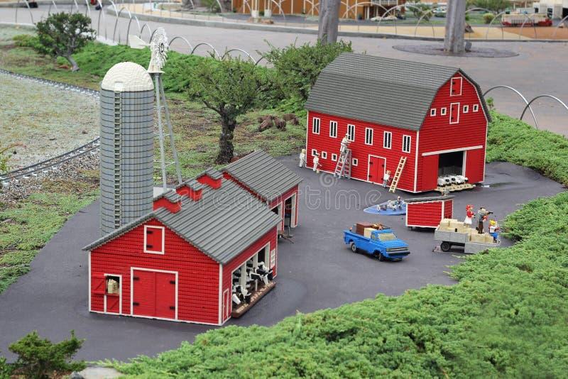 Legoland-Miniatur, CA lizenzfreie stockfotografie