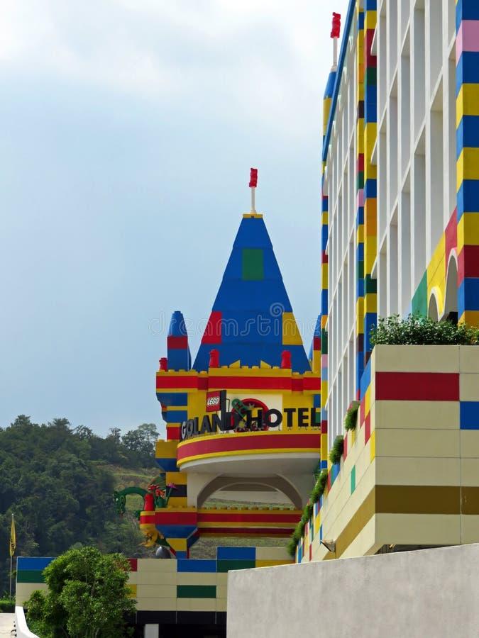 Legoland Theme Park, Johor, Malaysia. Entrance to resort at Legoland Theme Park in Johor, Malaysia on sunny day stock photos