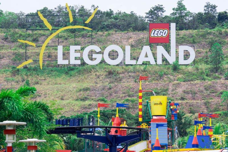 Legolandtoevlucht, Park en Waterpark, Johor Bahru, Maleisië, Oct royalty-vrije stock fotografie