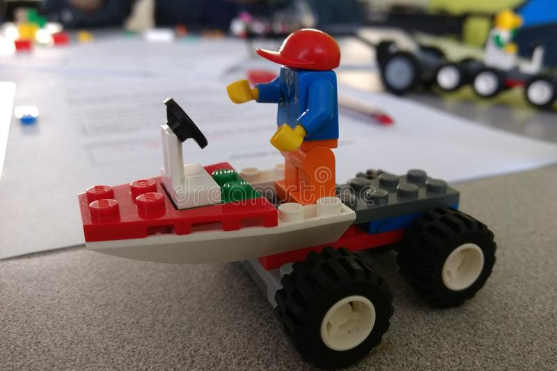 Legoman obrazy stock