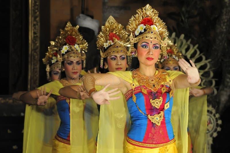 Legong and barong dance. BALI - MAY 4: Legong and barong dance is performed by sekehe Gong Panca Artha at Ubud Place in Ubud, Bali. May 4, 2011 in Bali royalty free stock images