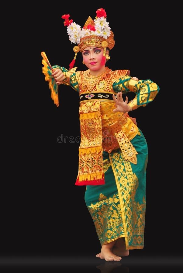 Legong Lasem舞蹈。 免版税图库摄影