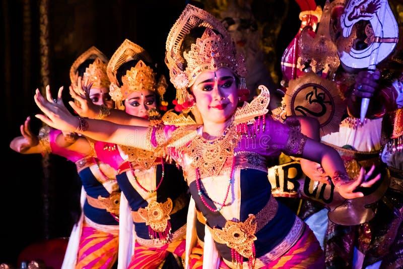 UBUD, BALI, INDONESIA - APRIL, 19: Legong traditional Balinese d stock images