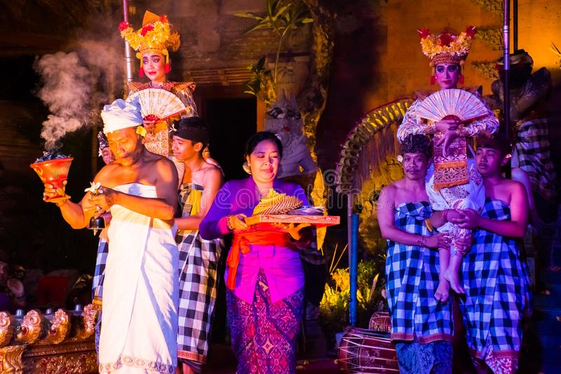UBUD, BALI, INDONESIA - APRIL, 19: Legong traditional Balinese d royalty free stock photos