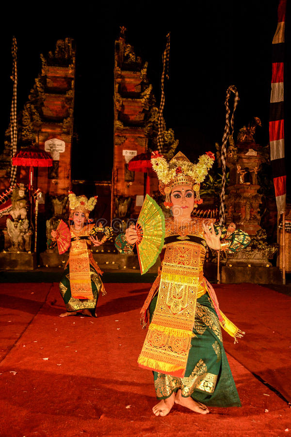 Legong traditional Balinese dance royalty free stock photo