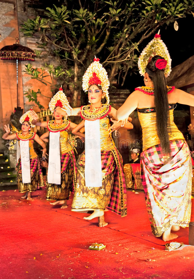 Legong Trance & Paradise Dance, Bali , Indonesia. Legong Trance & Paradise Dance venue Ubud Palace. Ubud is the home of traditional culture in Bali. Indonesia royalty free stock photo