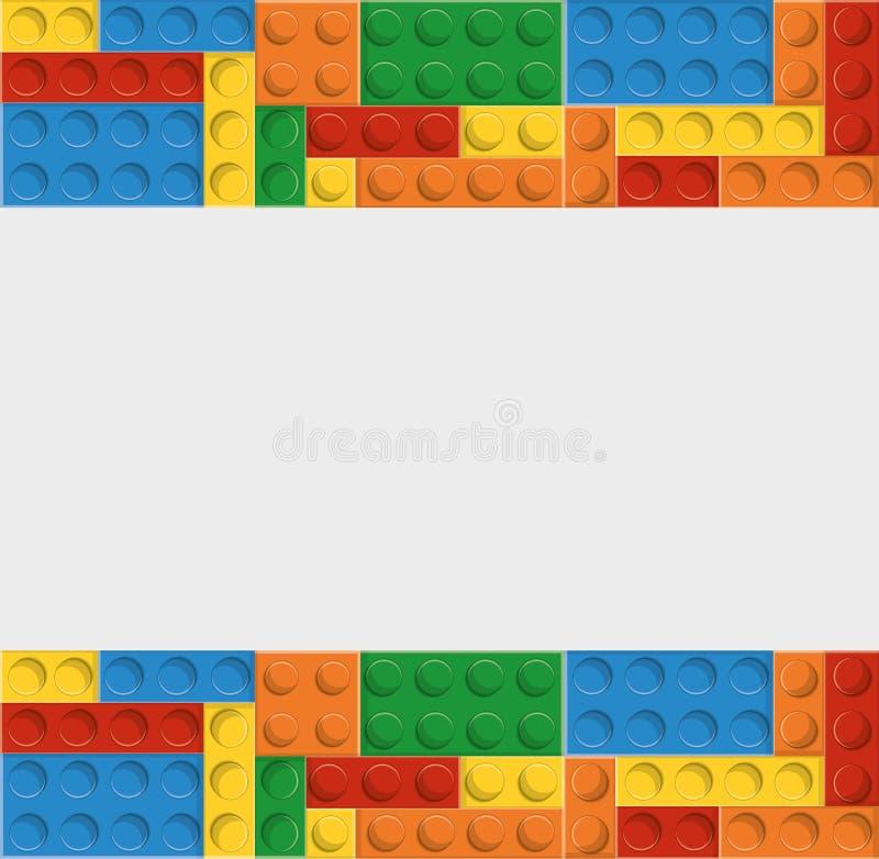 Legopictogram Abstract cijfer Grafische vector vector illustratie