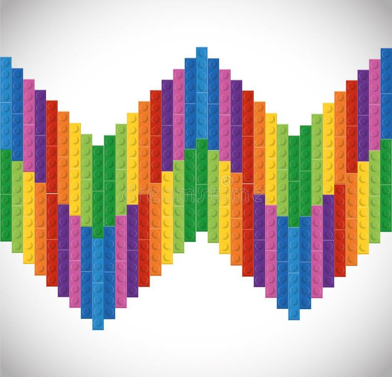 Legopictogram Abstract cijfer Grafische vector royalty-vrije illustratie