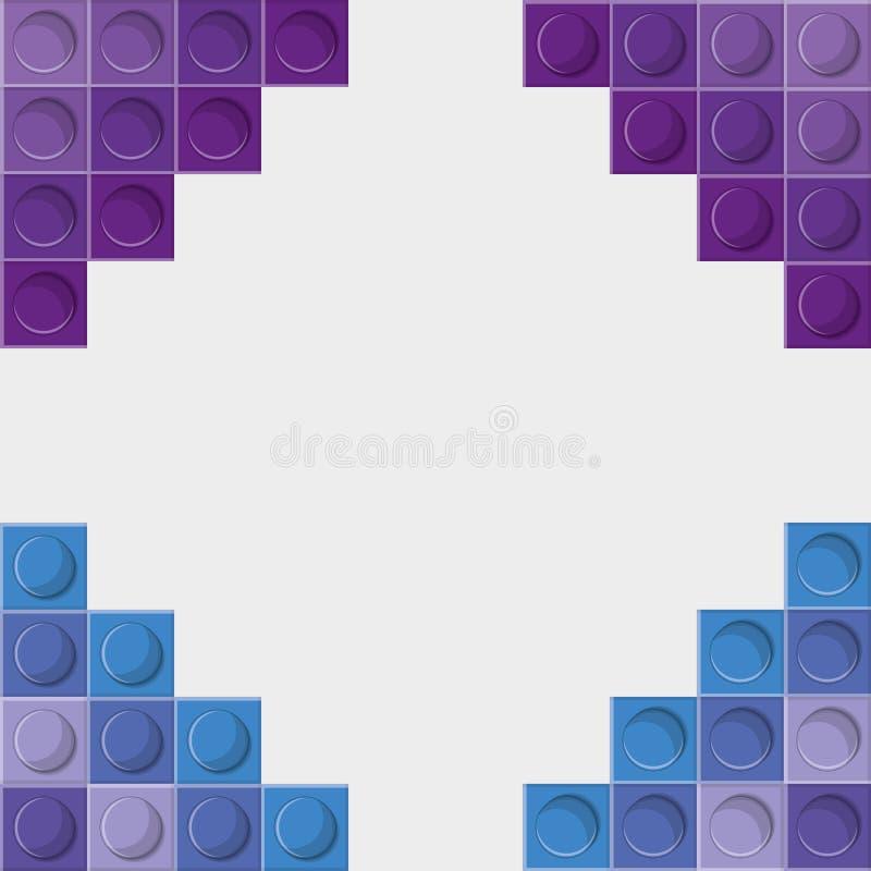 Legopictogram Abstract kadercijfer Grafische vector vector illustratie