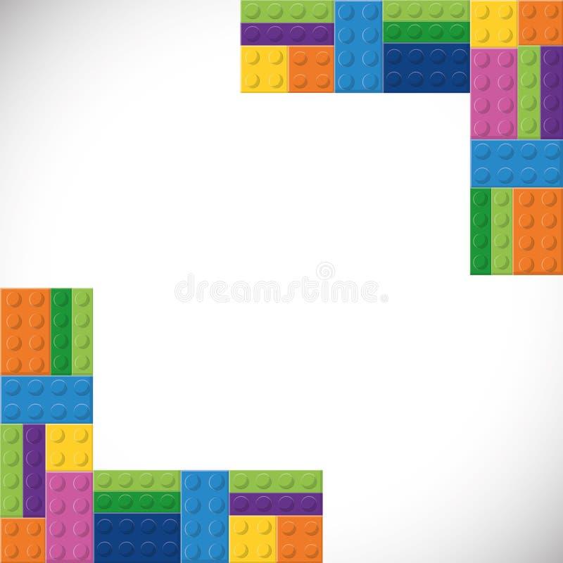 Legopictogram Abstract kadercijfer Grafische vector stock illustratie