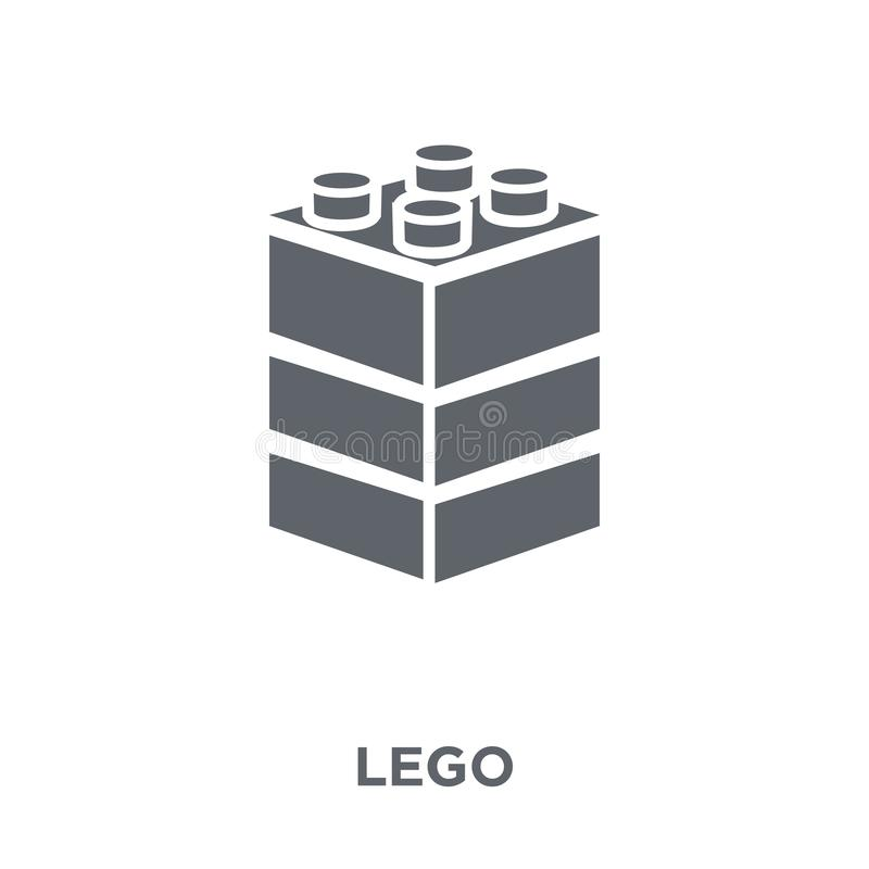 Legopictogram van Vermaakinzameling stock illustratie