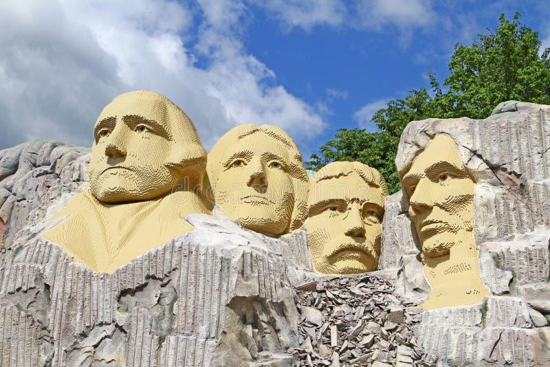 Legostandbeeld van Onderstel Rushmore stock fotografie