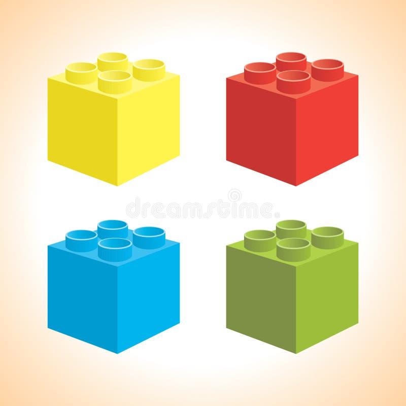 legovektor vektor illustrationer