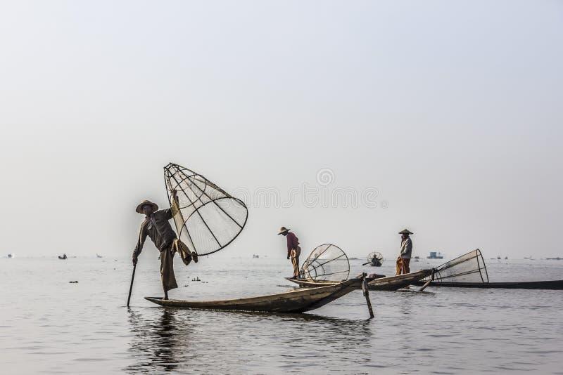 Legrowing fiskare arkivfoton