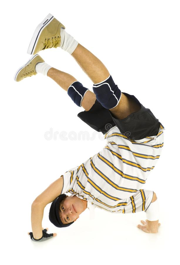 With legs in air stock image