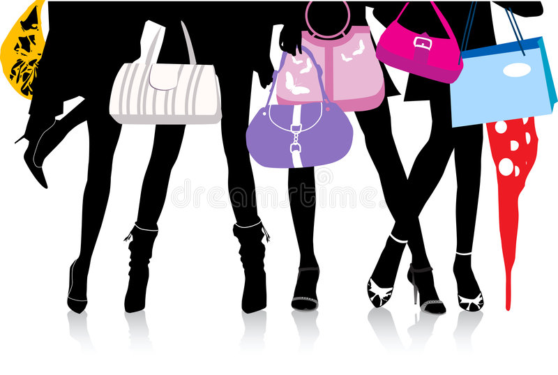 Download Legs_with_bags stock vector. Image of modern, romantic - 3765755