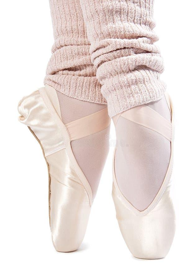Legs in ballet shoes 7. Legs in ballet shoes on a white backgrounde royalty free stock photos