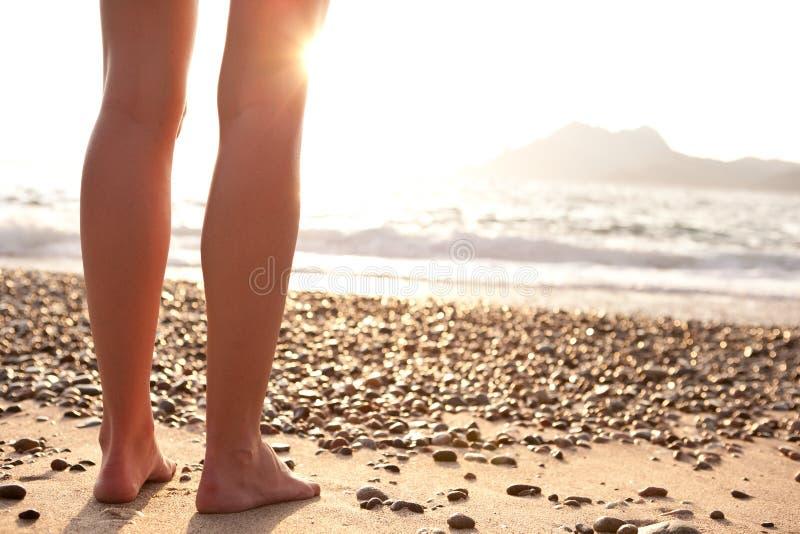 Legs On A Beach Stock Photography