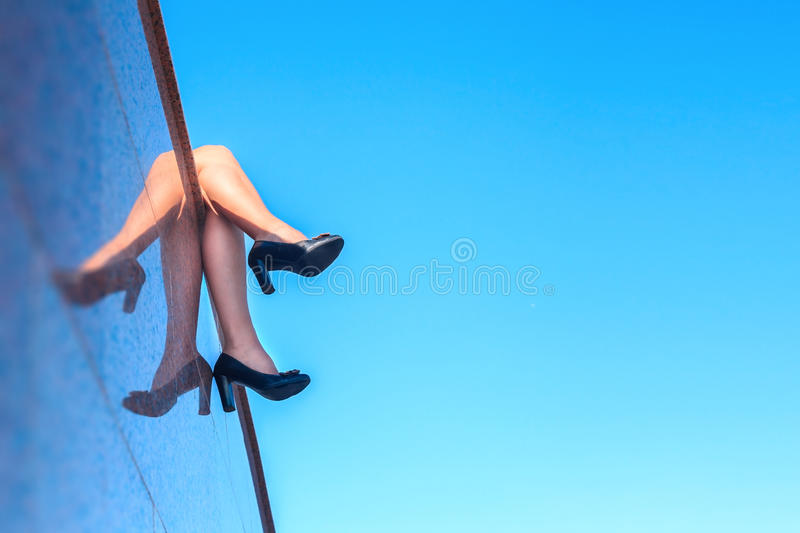 Legs Of Business Woman Stock Image