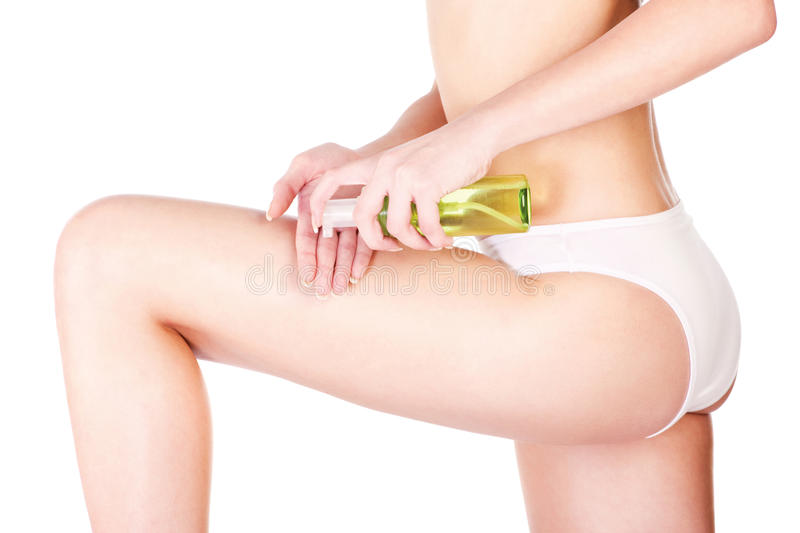 Legs cosmetic royalty free stock images
