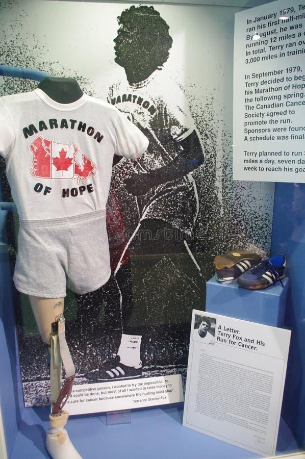 Legs de Terry Fox Marathon d'espoir image stock