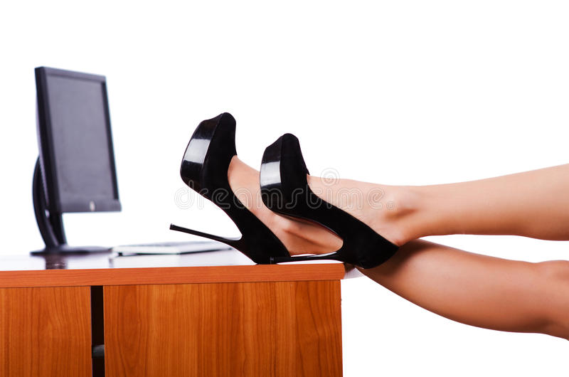 Download Legs On The Desk Stock Photos - Image: 27908423