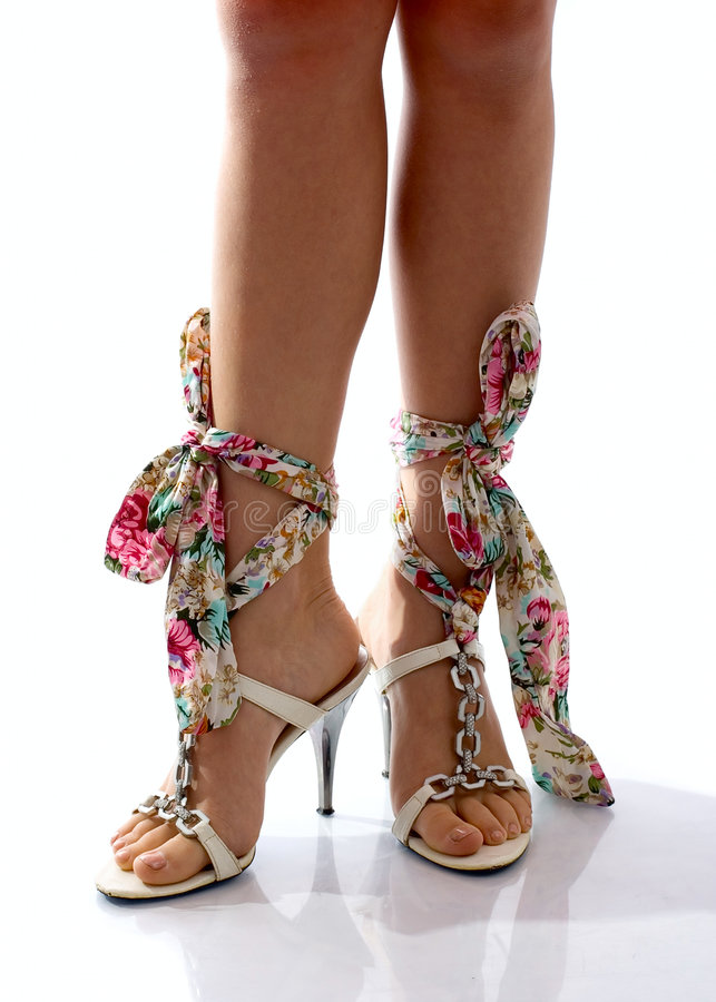 Legs Of Girl In Beautiful Shoes Stock Image Image 8313209