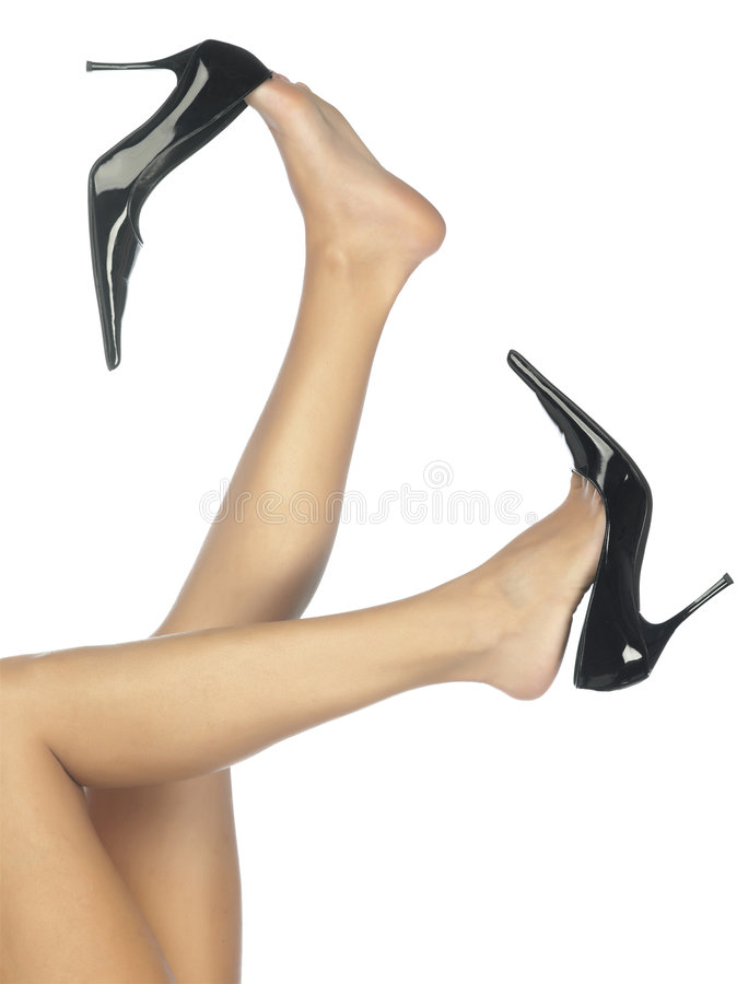 Free Legs In Black Shoes Royalty Free Stock Image - 6742116