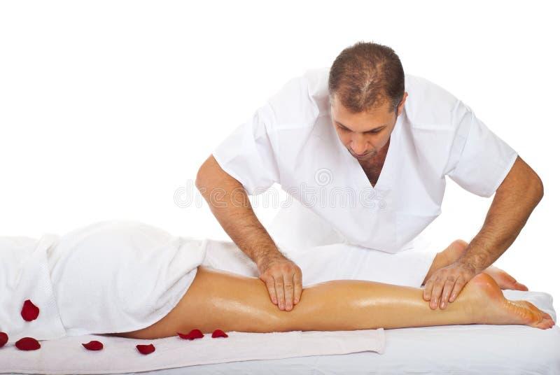 Legs massage royalty free stock photo