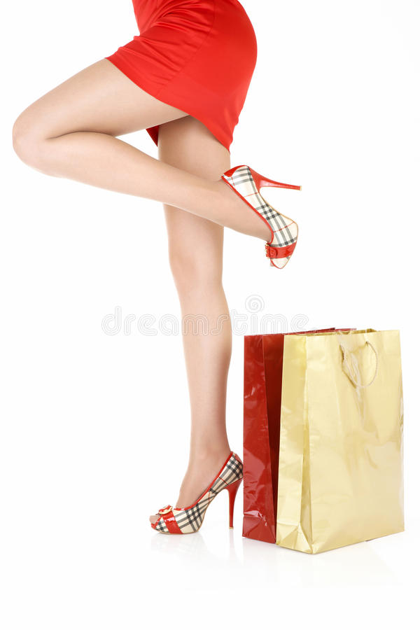 Download Legs near to purchases stock image. Image of shopaholic - 10275615