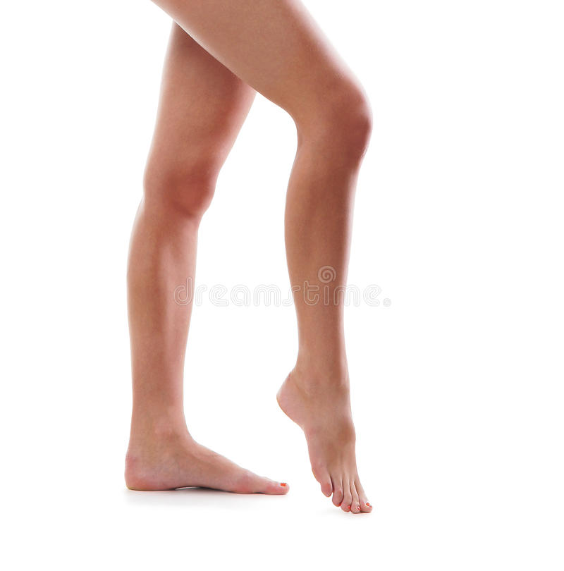 Free Legs Of A Young Woman On A White Background Stock Images - 28964794