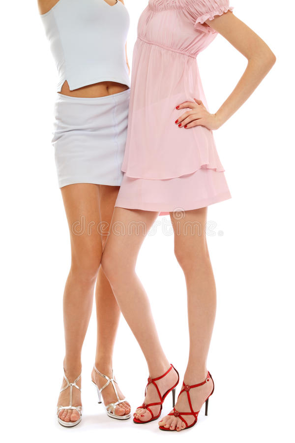 Free Legs Of Two Stylish Girls Stock Images - 11470974