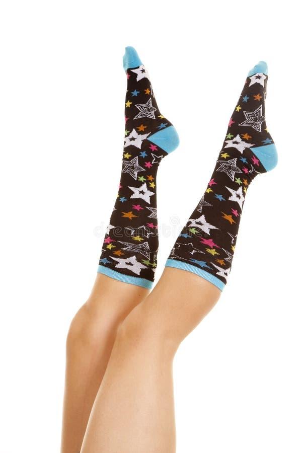 Legs star sock scissor stock image