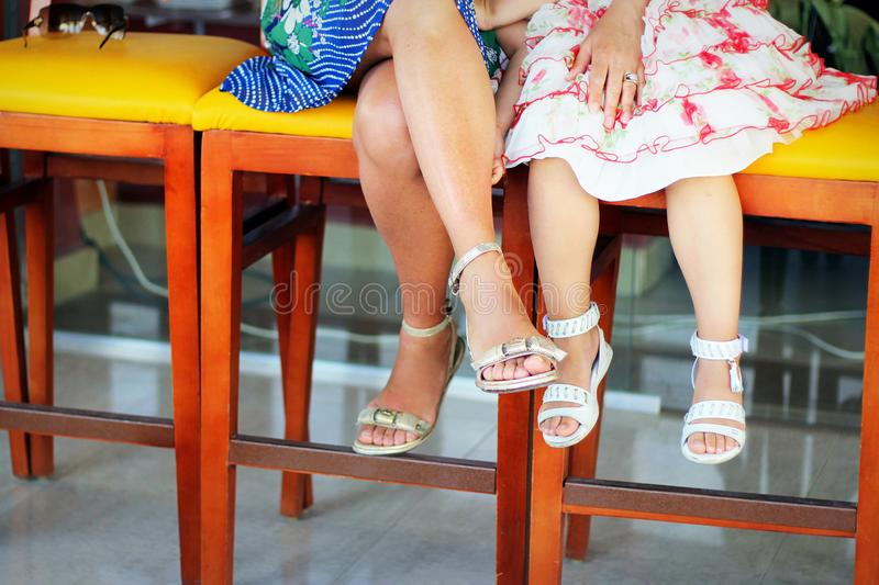 Legs in summer stock photo