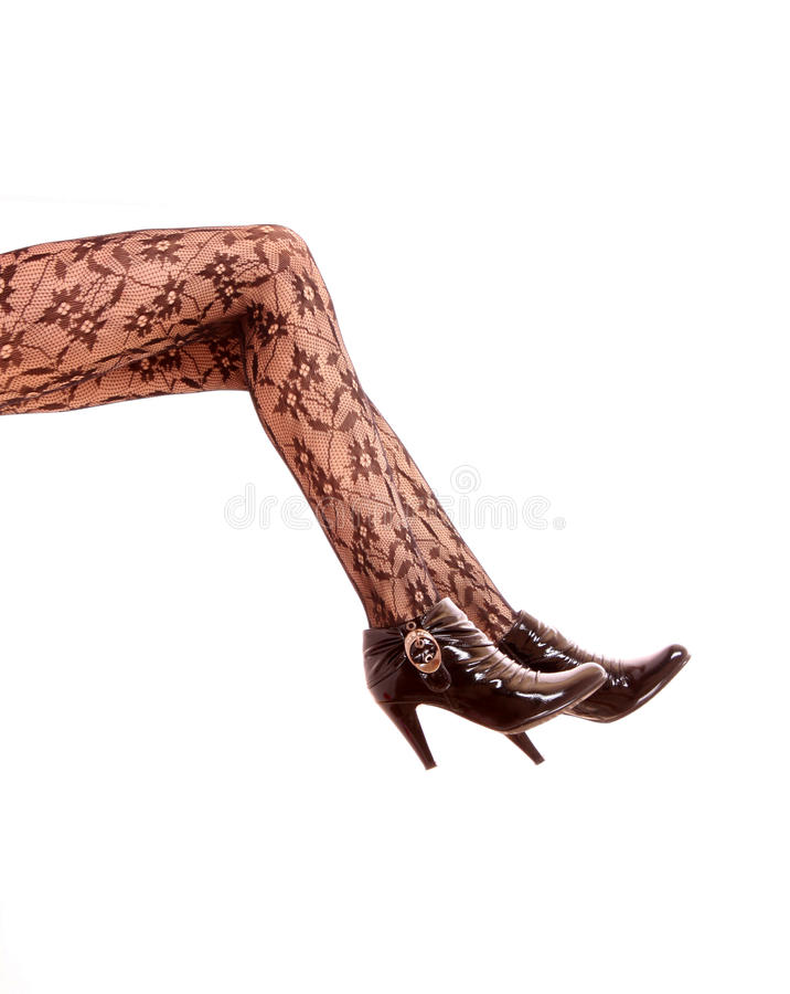Legs in tights royalty free stock photo