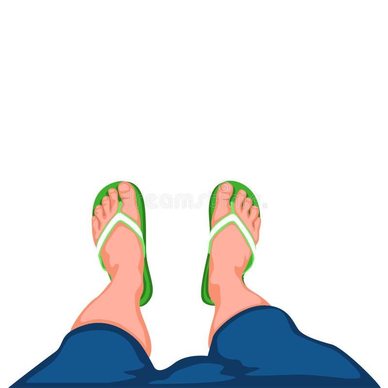 Legs top view 02 stock illustration