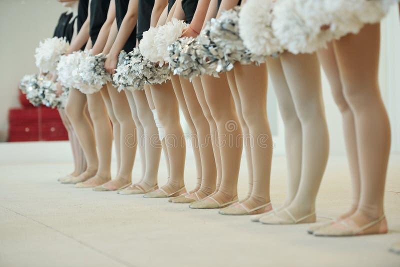 Legs van vooraanstaande dansers royalty-vrije stock afbeelding