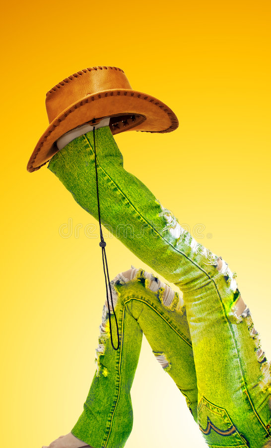 Free Legs With Hat On White Stock Image - 4749251