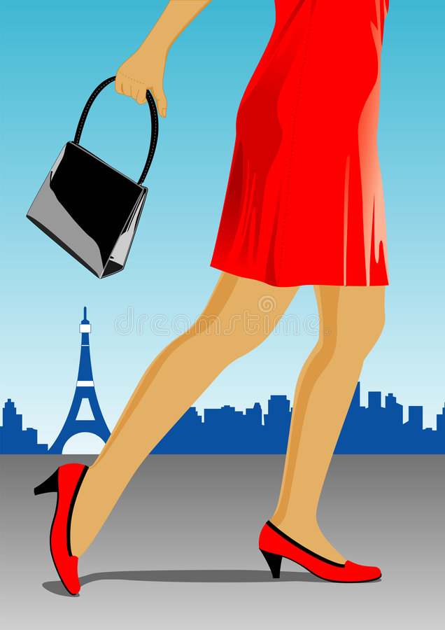 Download Legs of a woman stock vector. Image of sandal, landmark - 8879783