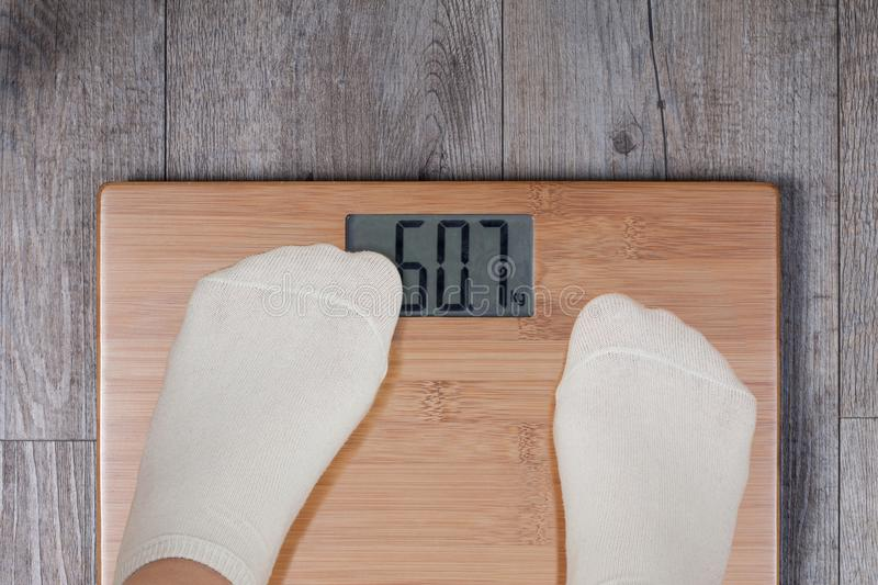 Funny weight concept stock images